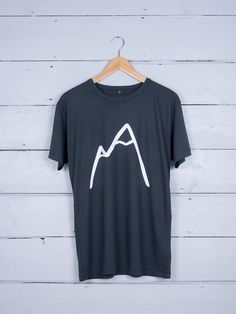 Simple Mountain graphic tee - hand screen-printed on ethically made 100% organic cotton t-shirt - designed for The Level Collective by Alice Bowsher.