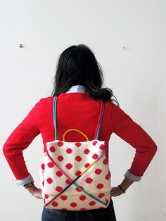 POlka dot backpack