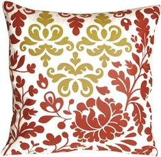 The Pillow Decor decorative throw pillow collection includes the Bohemian Damask Red, White and Ocher Throw Pillow Bohemian Room, Bohemian Decor, Modern Bohemian, Red Throw Pillows, Outdoor Throw Pillows, Contemporary Pillows, Home Decor Sites, Bohemian Furniture, Decorative Cushions