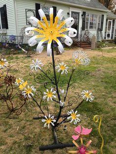 Welded flower yard art...