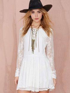 Ladylike Backless Lace  Casual-dress Casual Dresses from stylishplus.com