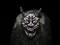 #Hannya Representing a jealous female demon, the Hannya mask was traditionally used in Japanese theater. Done in Sterling silver.