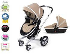 Surf 2 Pram and Pushchair in Sand from Silver Cross UK
