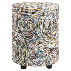 Stool crafted from upcycled magazines #FabulousFixes
