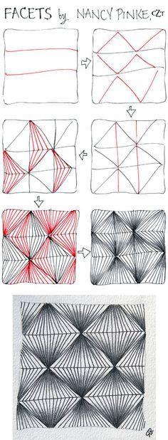 Facets Zentangle