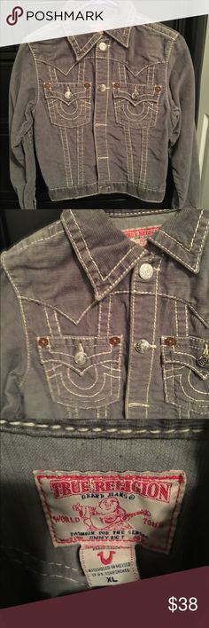 Kids True Religion Corduroy Jacket XL Kids True Religion Corduroy Jacket XL in great condition. No stains no snags. Buttons are all attached and functional. True Religion Jackets & Coats
