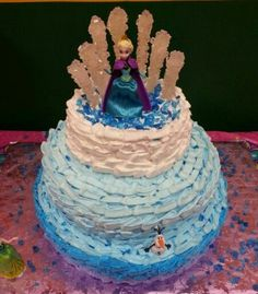 Frozen theme 3tier (6,9,12), whipped frosting