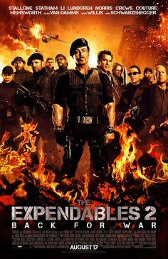 The Expendables 2. I dreamed of this movie since I was a kid. They even got it right and left out Steven Seagal. Academy Award for Best Movie Ever, on its way!