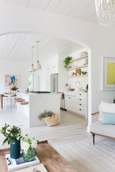 The white-on-white look was picked to brighten up the home. Plus, it totally works with your Instagram's white theme (in case that's what you're into).