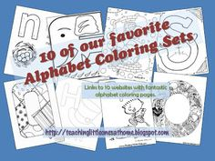 10 Awesome Alphabet Coloring Sets