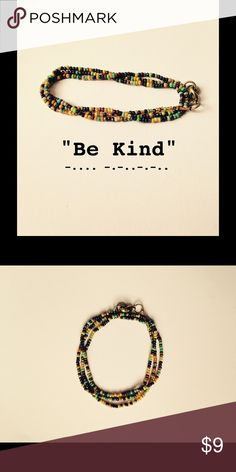 """Morse Code Bracelet """"Be Kind"""" Available on Etsy at BearHugsBracelets handmade  Jewelry Bracelets"""