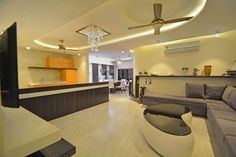 A House in the Sky. by deepak mukati, Interior Designer in Indore,Madhya Pradesh, India Indian Living Rooms, Living Room Grey, Madhya Pradesh, Living Room Storage, Living Room Remodel, Storage Design, Interior Design, Table, House