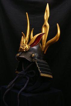 Kabuto. Helmet worn by the samurai class around the 16th century.  (黒ネコ)