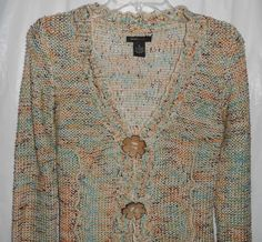 BCBG MAXAZRIA Women/Junior Cardigan Sweater Sz S Small 2-Large Buttons Closure #BCBGMAXAZRIA #Cardigan