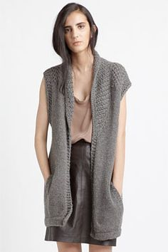 Longline sweater vests have such an easygoing-yet-classy chic