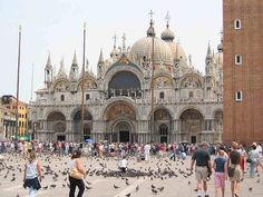 Venedig Markusplatz mit der Basilika San Marco