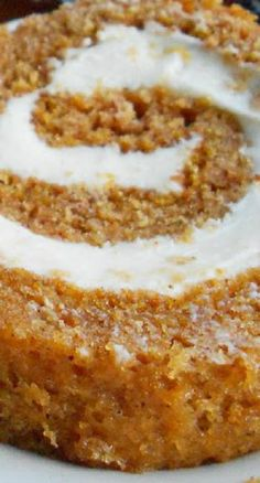 Pumpkin Roll with Maple Cream Cheese Filling ... a moist, perfectly spiced pumpkin roll with a delicious maple cream cheese filling!