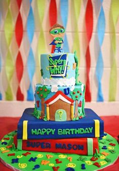 Super Why Birthday cake by Shandi Cakes Super Why Cake, Super Why Party, Super Why Birthday, Baby Boy 1st Birthday Party, 3rd Birthday Cakes, Birthday Party Tables, 3rd Birthday Parties, Birthday Fun, Birthday Ideas