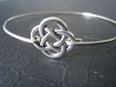 Celtic Knot Bracelet Silver Celtic Bangle Celtic by BanglesbySJ, $14.95
