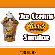 Toni Ellison: Reese's Ice Cream Sundae - Miniature Polymer Clay & Air Dry Clay Tutorial