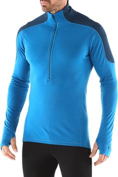 Stay comfortable in the cold with the SmartWool Midweight Funnel zip top. #REIGifts