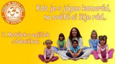 Kdo je s jógou kamarád, na světě si žije rád.. - 7. Motýlek a zajíček s ... T 62, Kids And Parenting, Memes, Youtube, Movie Posters, Author, Diet, Meme, Film Poster