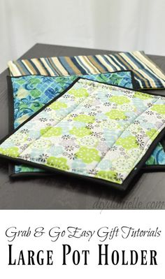 Video tutorial: Oversized hot pads for casserole dishes | Sewing | CraftGossip | Bloglovin'