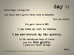 day 31 of The Prayer Manifesto for Moms