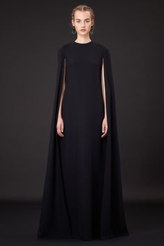 Valentino Silk Cape Gown | Resort 2015. Reminds me of Lupita's Golden Globes dress