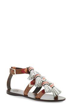 Tory Burch 'Weaver' Tassel Sandal (Women) available at #Nordstrom