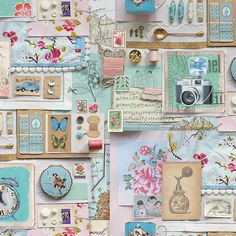 wallpaper by PIP Studio Collage Art, Collages, Shabby, Journaling, Pip Studio, Inspiration Wall, Of Wallpaper, Wall Design, Booth Design