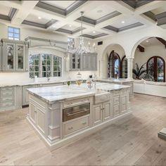 Luxury Kitchen Design, Dream Home Design, Luxury Kitchens, My Dream Home, Dream Kitchens, Dream House Interior, Luxury Homes Dream Houses, Home Interior Design, Dream House Plans