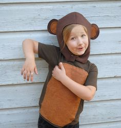 Handmade Monkey Costume Brown Halloween School by AlphabetCircus, $39.00