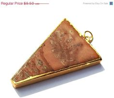 10% OFF SALE 1Pc 24Kt Gold Electroplated Edge by RareGemsNJewels