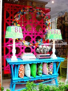 Eye popping eye catching use of color invites further investigation.