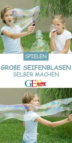 Seifenblasen selber machen – so geht's! Soap bubbles are always fascinating – especially when they are huge! How you can make giant soap bubbles yourself, we'll tell you. Craft Stick Crafts, Diy And Crafts, Underwater Led Lights, Pool Party Kids, Mermaid Kids, Soap Bubbles, Games For Kids, Party Planning, Activities