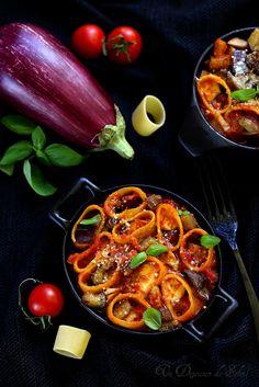 Gratin de pâtes aux aubergines, thon et mozzarella