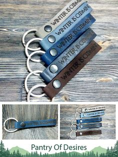 winter is coming you know nothing jon snow  Game of Thrones Stark Thrones Keychain Leather Keychain  Leather Keychain Game of keychains