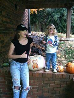 Mother and son Halloween costumes. Wayne and Garth. Waynes World.