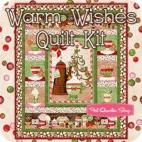 Warm Wishes Quilt Kit Featuring Hot Cider by Nancy Mink--available July 2014