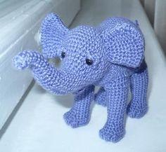 Слоник (крючком) | Познавашка - crochet elephant