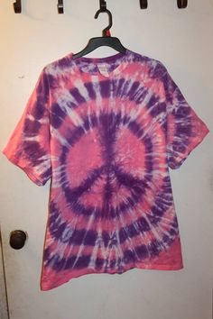 Pink and Purple Peace Sign Size XL - Sunshine Tie Dye Shop