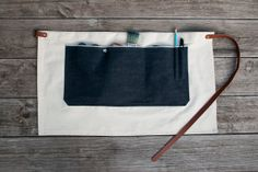 Duck Canvas & Selvedge Pocket Half Apron  Made by AmericanNative, $54.00, available in two colors