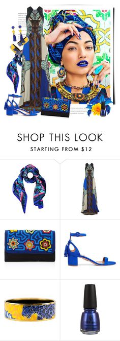 """Summer Scarves"" by sella103 ❤ liked on Polyvore featuring Matthew Williamson, Etro, Mola SaSa, Aquazzura, Hermès, China Glaze and ESCADA"