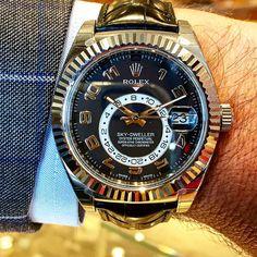 23f6831c258 Relógios masculinos · Rolex Sky-Dweller in white gold