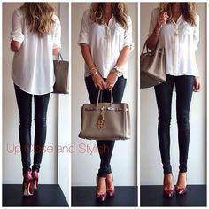 .@upcloseandstylish | Yesterday -  #Forever21 shirt (old, no longer available), #Alice_Olivia leath...