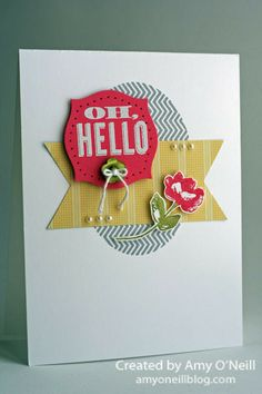 Strawberry Slush and Oh, Hello stamp set by Amy O'Neill