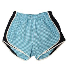NEW Turquoise/Navy Gingham Shorties from Lauren James Co!!! #laurenjames #gingham shoplaurenjames.com
