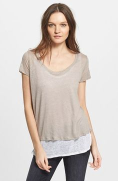 Majestic Double Layer Linen Tee available at #Nordstrom