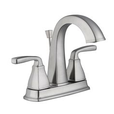 Pegasus Mason 4 in. Centerset 2-Handle High-Arc Bathroom Faucet in Brushed Nickel-67579W-6204 - The Home Depot
